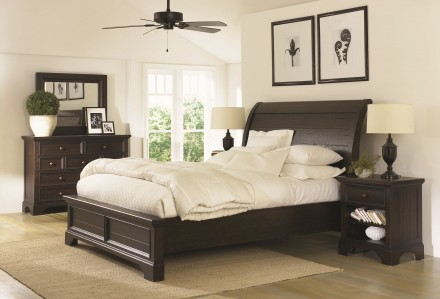 Aspenhome Bayfield Sleigh Bedroom Set in Dark Mahogany Main Image