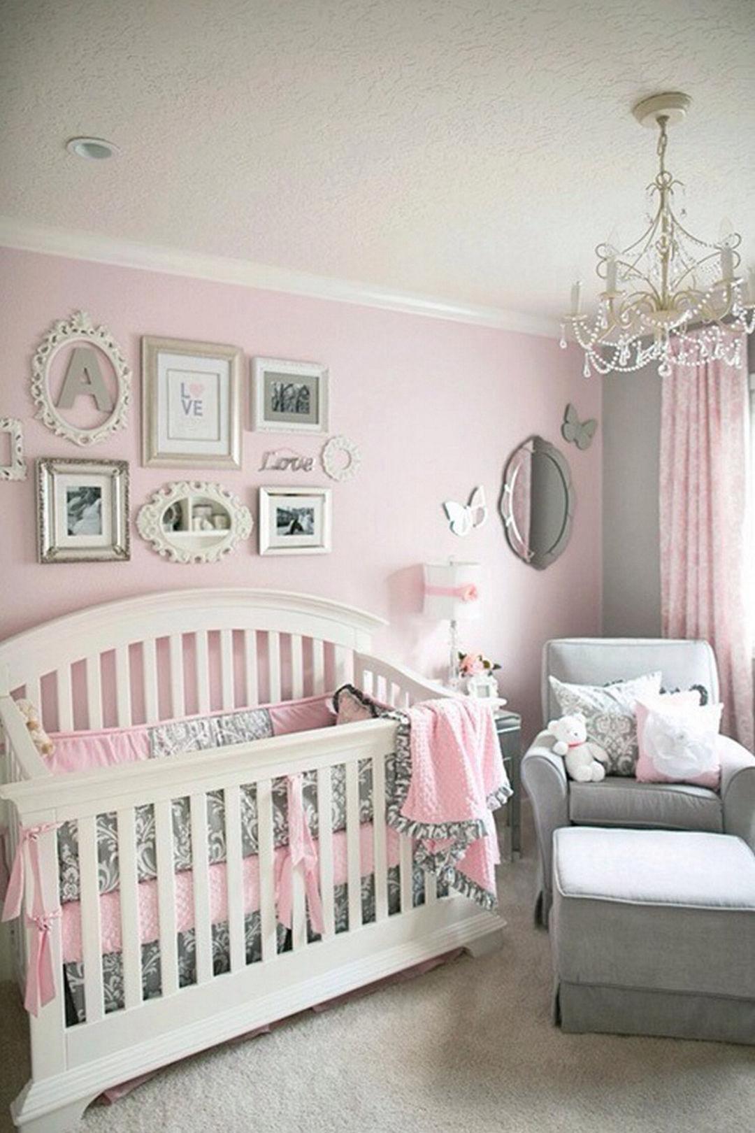 I love this room. Pink And Grey Nursery Baby Girl, Nursery Ideas Girl Grey