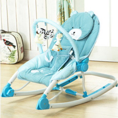 Maribel Hand-actuated baby rocking chair portable folding chaise lounge  multifunctional cradle rocker
