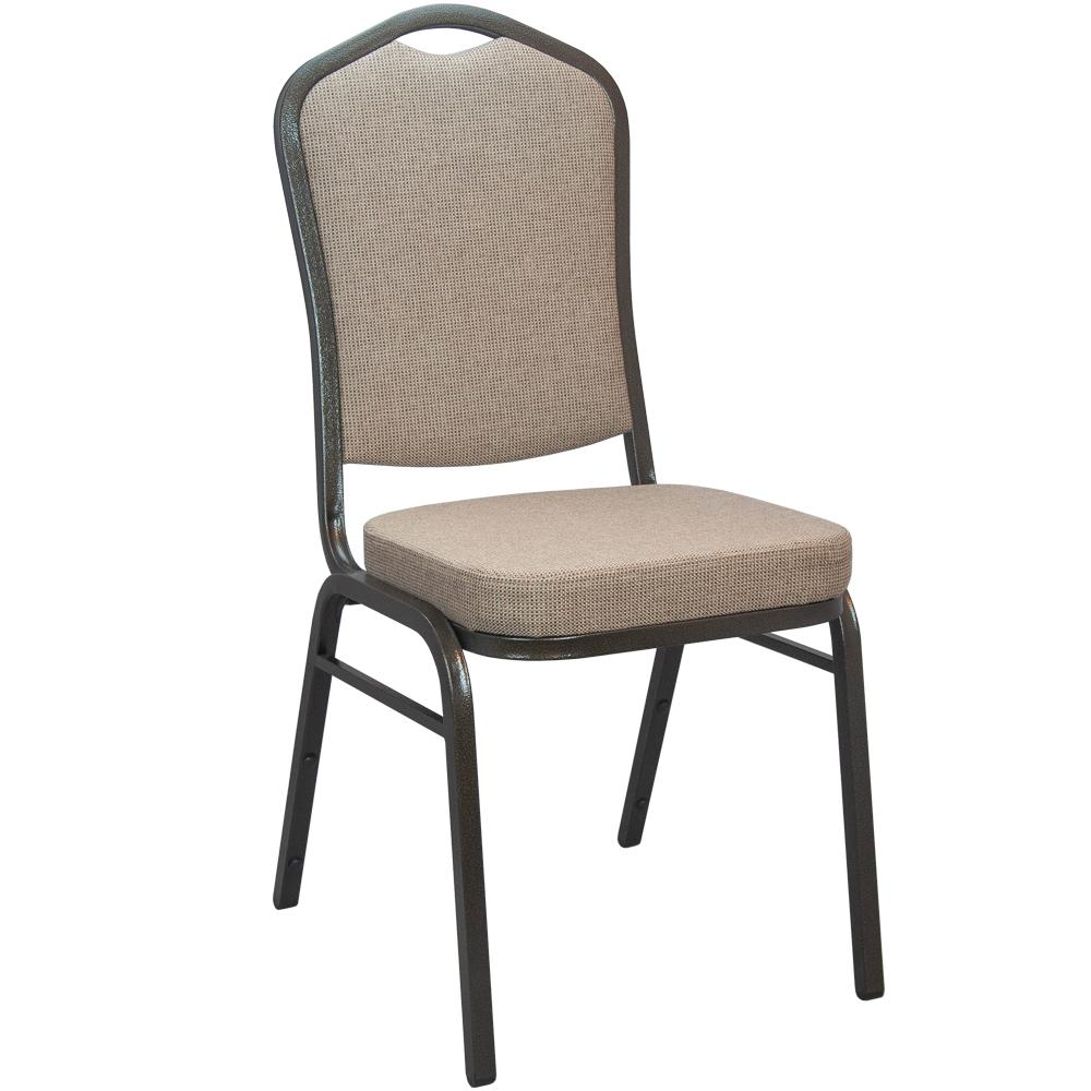 Mixed Tan Fabric Crown Back Banquet Chair (Set of 25)