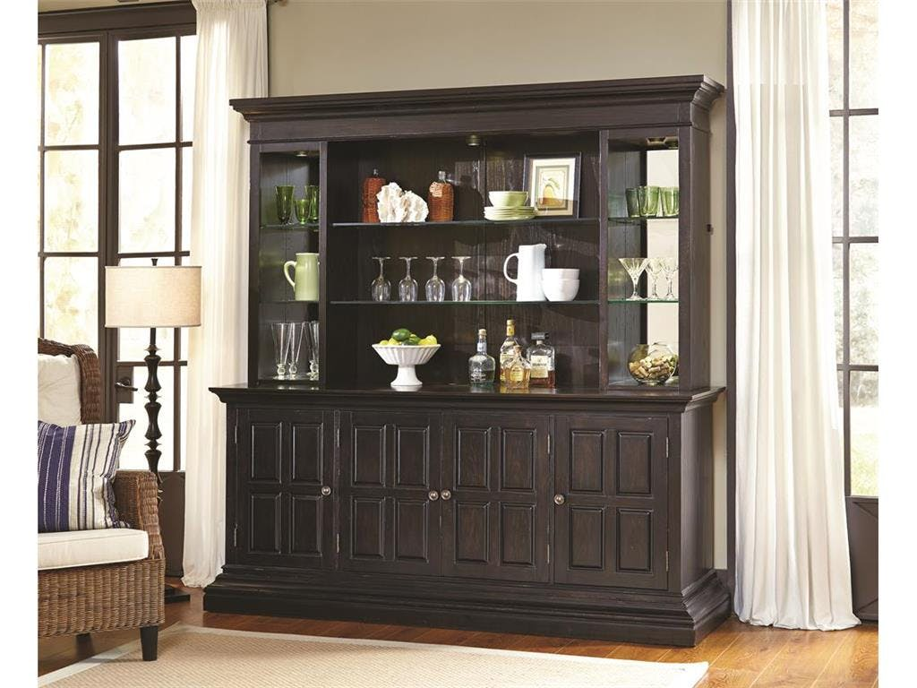Pulaski Furniture Bar and Game Room Includes Bar Hutch and Back Piers  (Excludes Bar Base) 675904 COMPLETE TOP at Carol House Furniture
