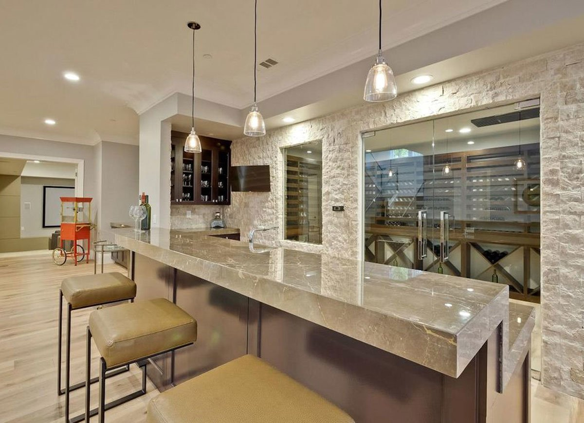 Basement Bar with Soapstone