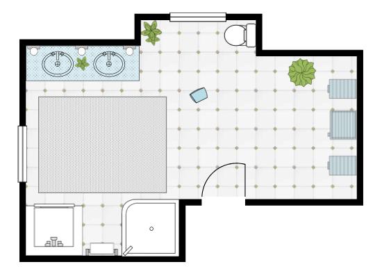Bathroom design made with SmartDraw