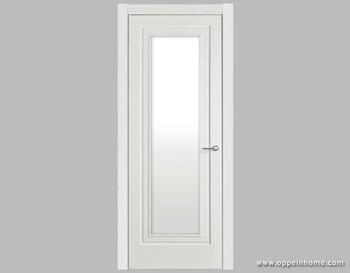 White Shatterproof Frosted Interior Glass Bathroom Door