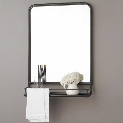 Metal Mirror with Shelf - Small
