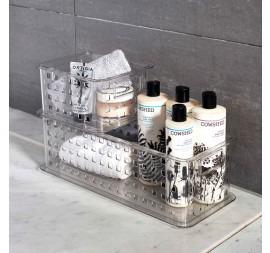 InterDesign Stack & Slide Clear Plastic Basket