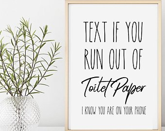 Funny Bathroom Art, Typography, Funny Art Print, Bathroom Wall Art, Bathroom  Print, Toilette Humor, Bathroom Humor, Printable Art
