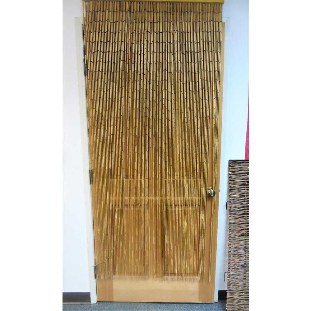 Plain Bamboo Beaded Curtain