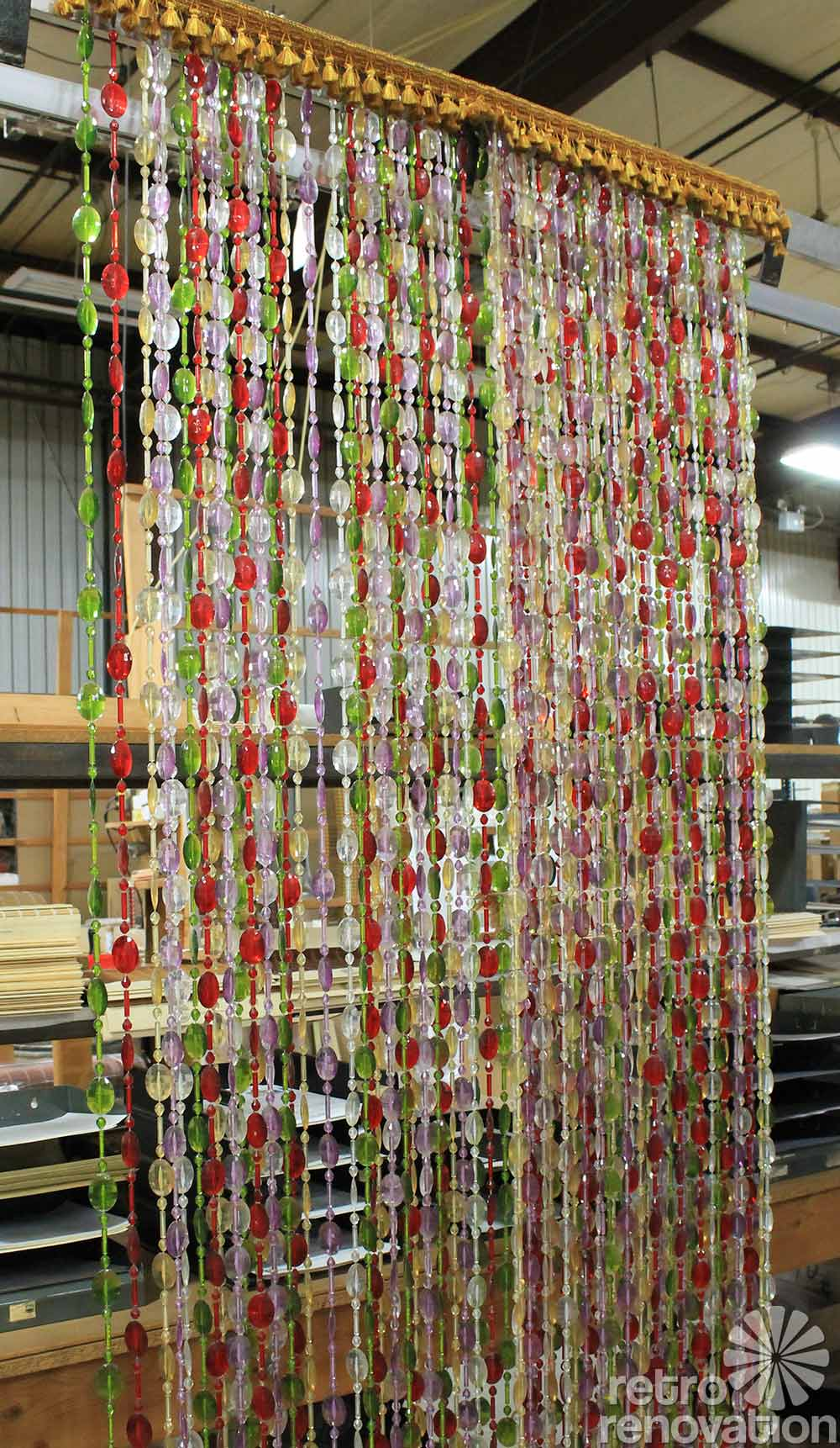 retro beaded curtains 1970s. Made in the USA