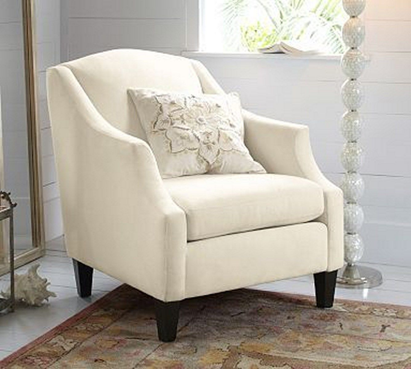 Bradshaw White Bedroom Armchair