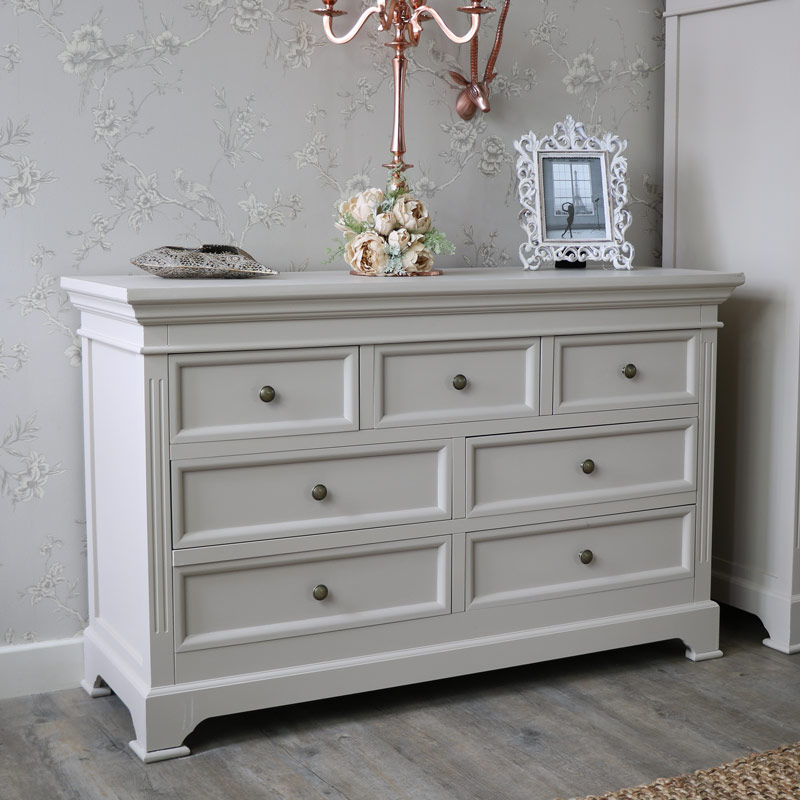 Grey Bedroom Furniture Large Drawer Chest Of Drawers Clothing Pertaining To  Decorations