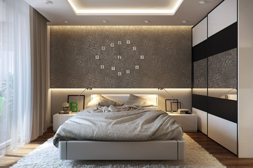 Clock Inbuilt Bedroom Interior Design: