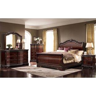 Muni Queen Sleigh 4 Piece Bedroom Set