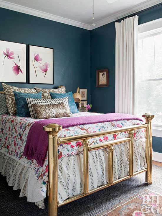 Jewel-Tone Bedroom Paint Colors