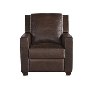 Mandel Leather Recliner