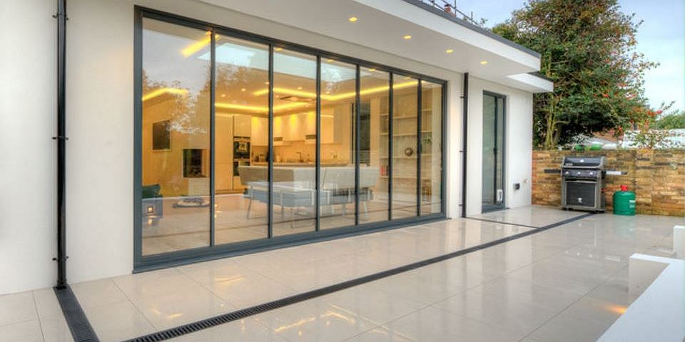 Bi Folding Doors UltraSlim Aluminium Frameless Glass With Bifold Idea 44