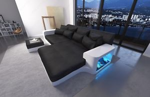 La foto se está cargando Big-Sofa-Leather-SAN-DIEGO-with-LED-lights-