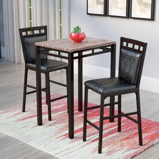 Eric 3 Piece Pub Table Set