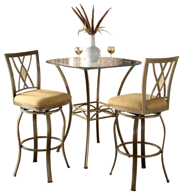 Brookside 3-Piece Bistro Set - Transitional - Indoor Pub And Bistro Sets -  by Hillsdale Furniture