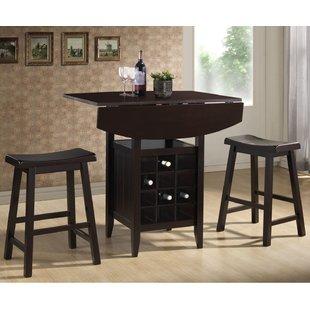 Elida 3 Piece Adjustable Pub Table Set