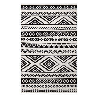 Haku Geometric Moroccan Tribal 8 ft. x 10 ft. Area Rug in Black and