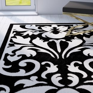 Medici Hand-Tufted Black/White Area Rug