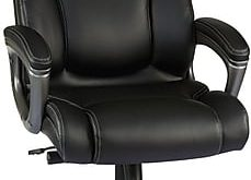 Staples Washburn Bonded Leather Office Chair, Black.  https://www.Traveller Location/s7/is/