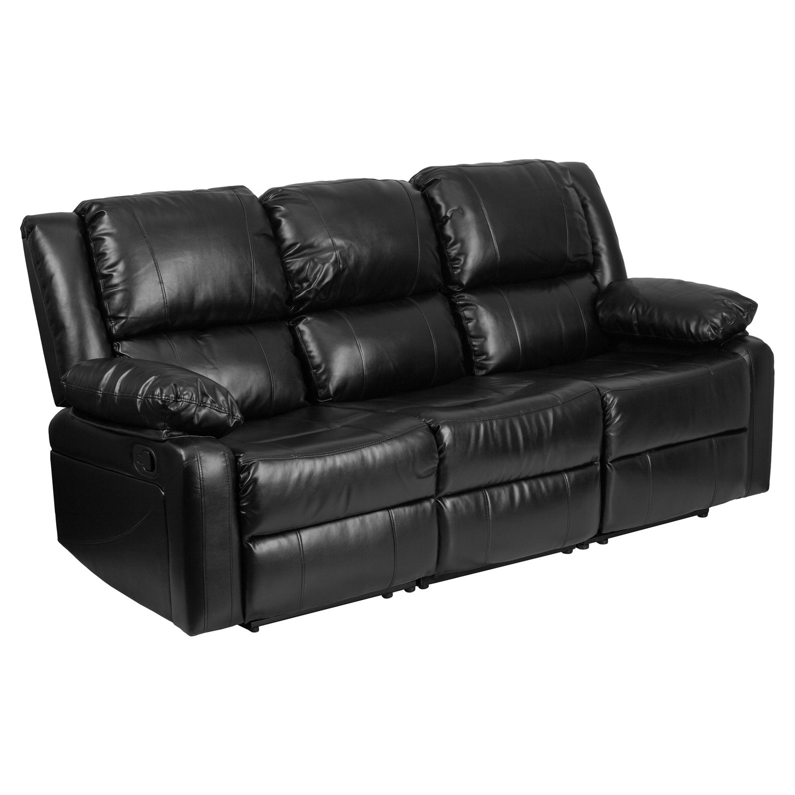 Flash Furniture Harmony Series Black Leather Sofa with Two Built-In  Recliners - Traveller Location