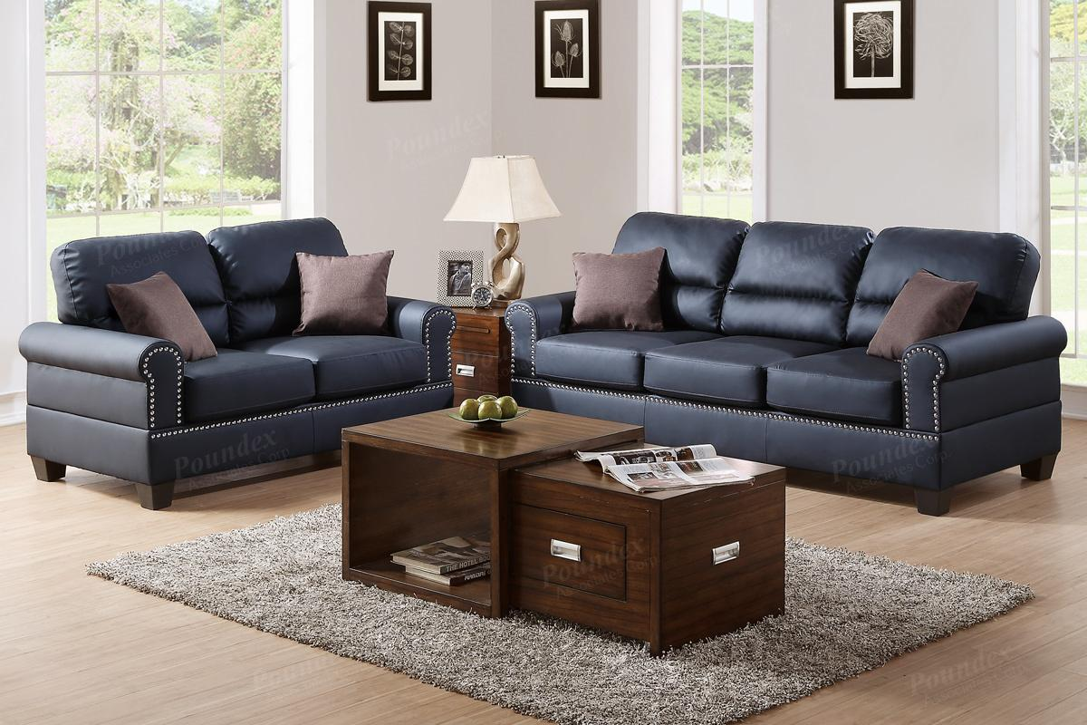 Black Leather Sofa and Loveseat Set - Steal-A-Sofa Furniture Outlet Los  Angeles CA