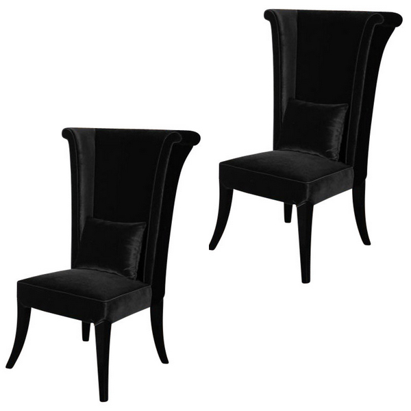 20 Glamorous Examples Of Black Living Room Chairs Home