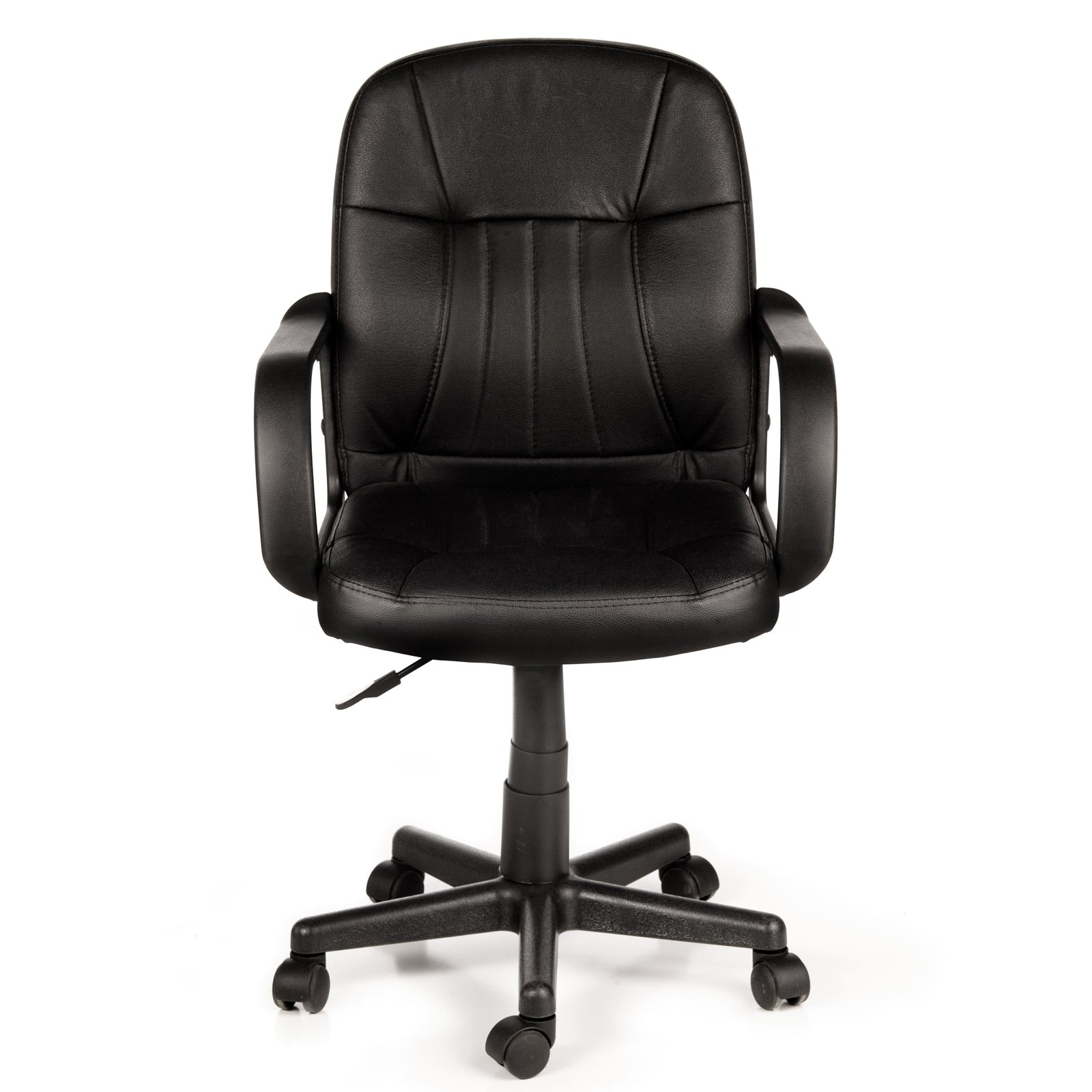 Product Image Comfort Products 60-5607M Mid-Back Leather Office Chair, Black