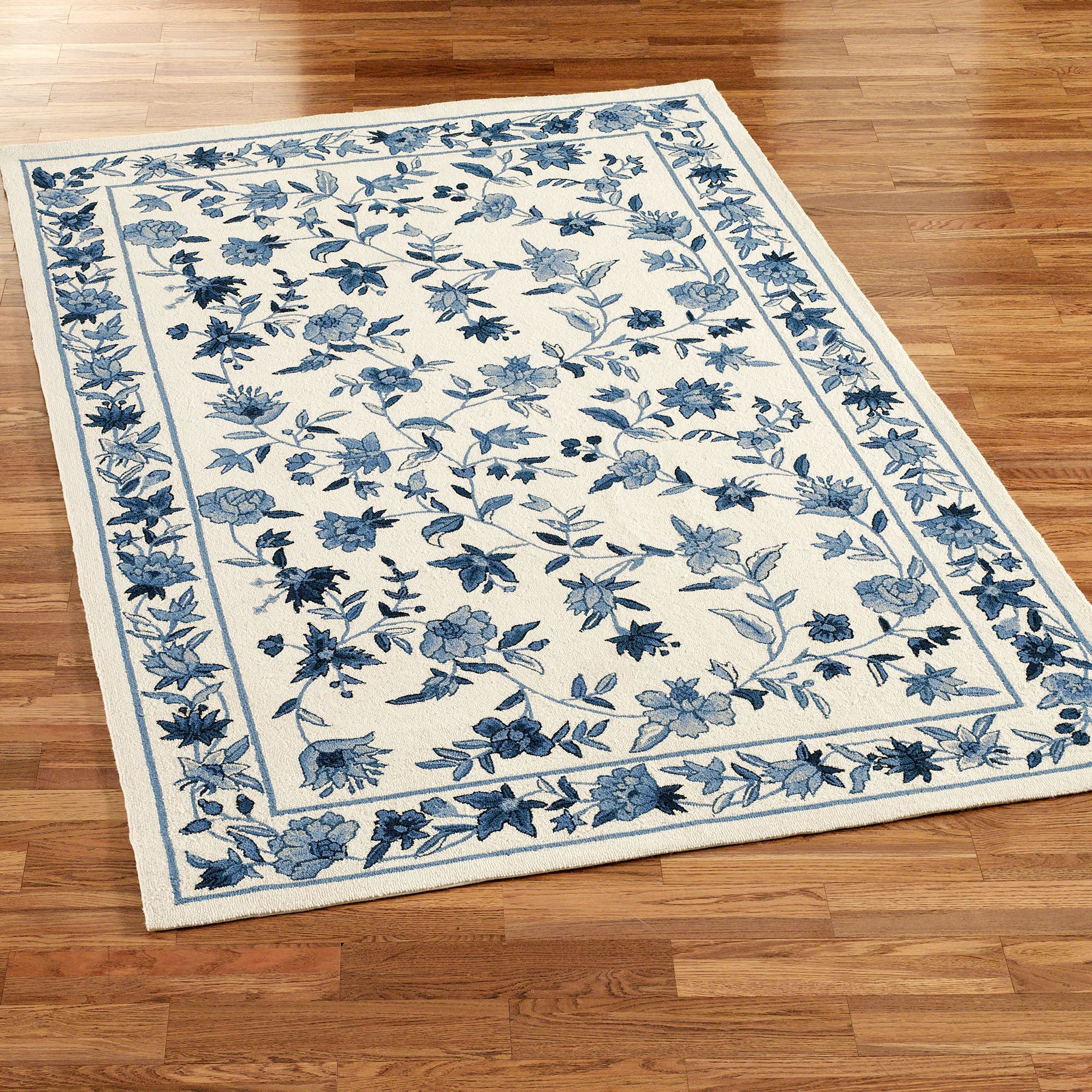 Bonnie Blue Rectangle Rug Ivory/Blue