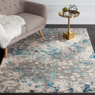 Indira Gray & Light Blue Area Rug