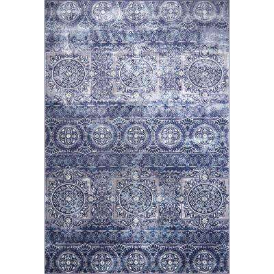 Bazaar Crystal Blue 7 ft. 10 in. x 10 ft. 2 in.