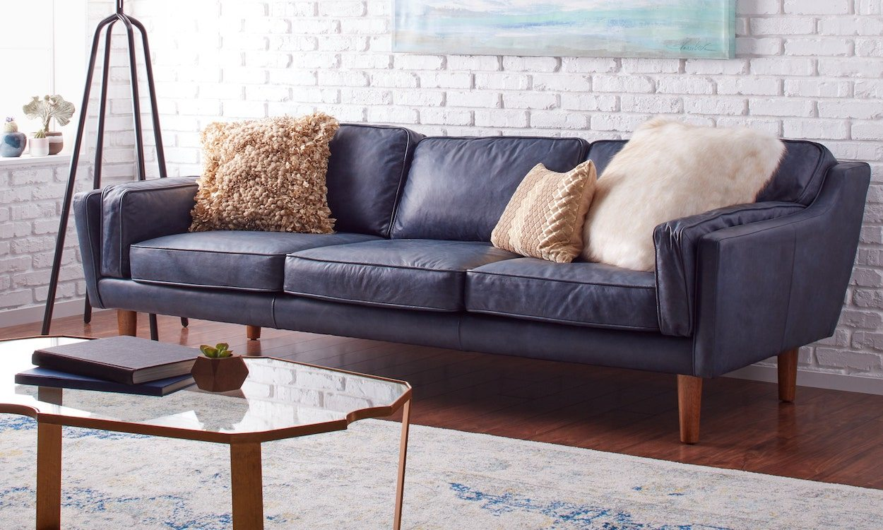 How to Decorate with a Blue Sofa