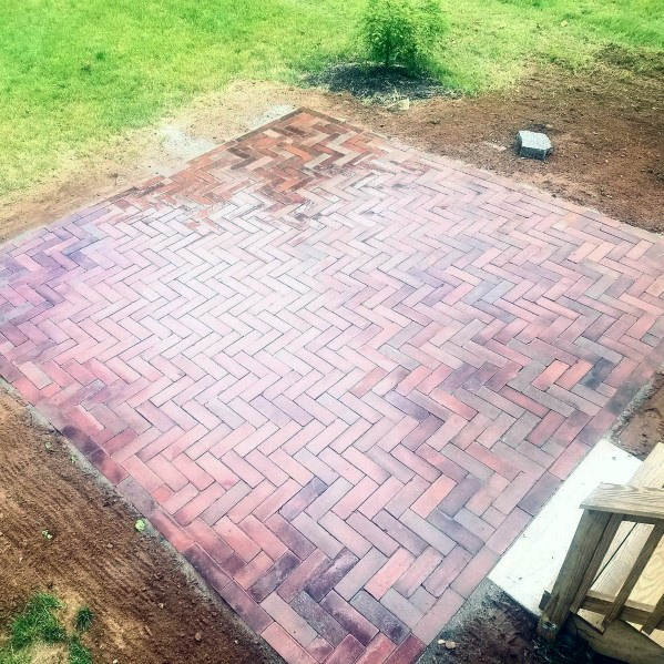 Awesome Brick Patio Pattern Square Ideas