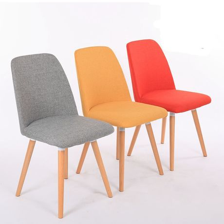 Cafe Chairs Cafe Furniture solid wood +cotton fabric coffee chair