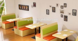 Modern cafe furniture plywood restaurant booths sofa