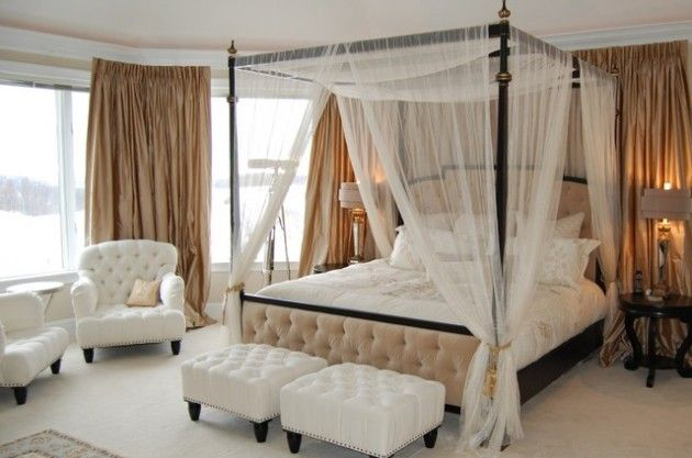 34 Dream Romantic Bedrooms With Canopy Beds Canopy Bed Curtains, Canopies,  Window Canopy,