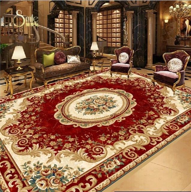 3d wallpaper floor custom European virgin red carpet designs 3d floor tiles  self adhesive wallpaper vinyl flooring waterproof