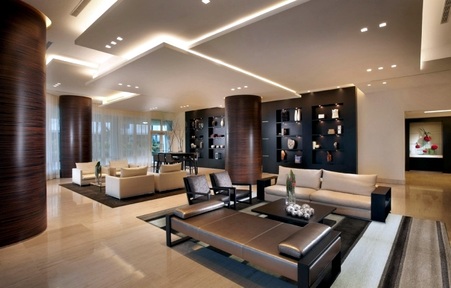 33 examples of modern living room ceiling design.