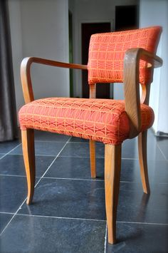 Vintage chair new upholstery Chair And Ottoman, Ottoman Ideas, Vintage  Chairs, Color Combos
