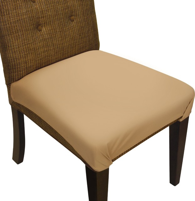SmartSeat Dining Chair Seat Cover and Protector, Sandstone Tan