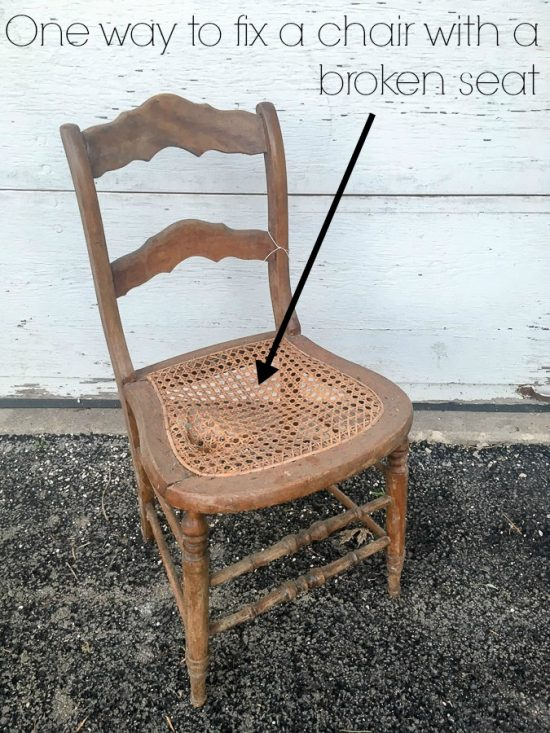 Easy tips for fixing a chair with a broken seat and how to reupholster a  chair