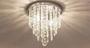 lifeholder Mini Chandelier, Crystal Chandelier Lighting, 2 Lights, Flush  Mount Ceiling Light,