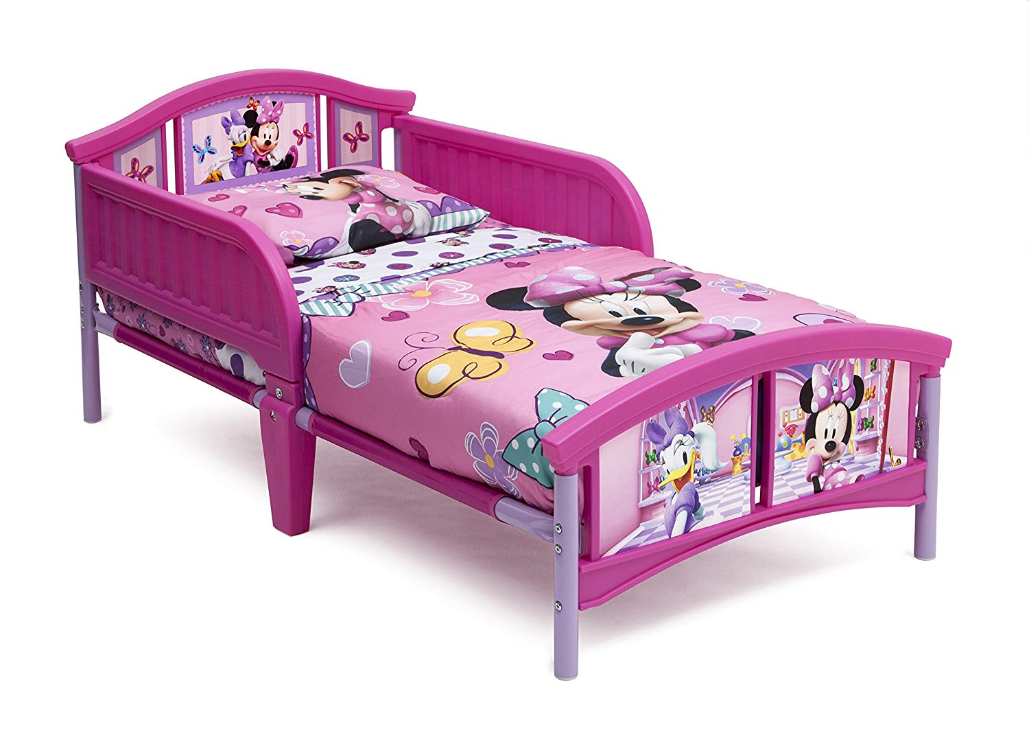 Traveller Location : Delta Children Plastic Toddler Bed, Disney Minnie Mouse : Baby