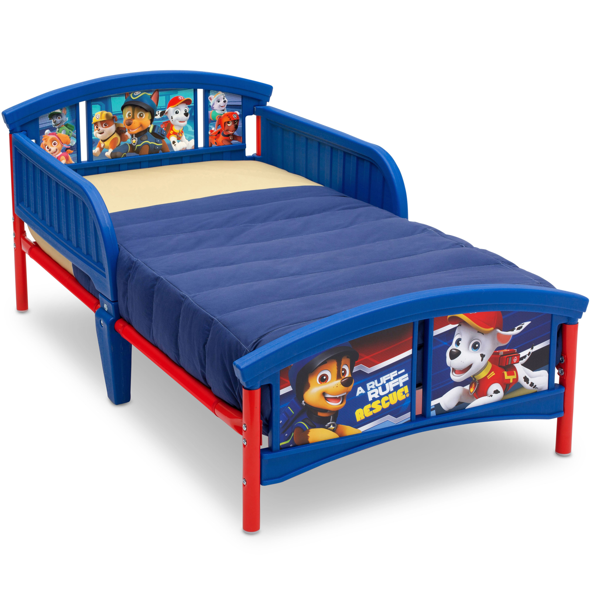 Delta Children Nick Jr. PAW Patrol Plastic Toddler Bed, Blue - Traveller Location
