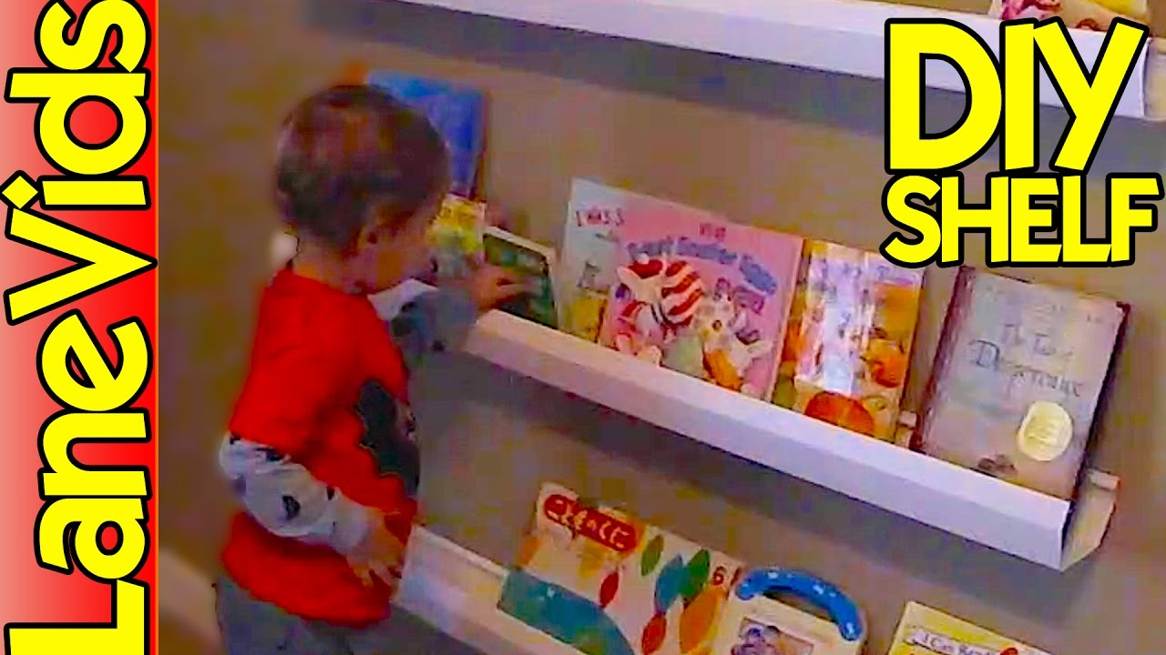 ⚒ DIY SHELF IDEAS ? | DIY Kids Bookshelf from Rain Gutters | LaneVids -  YouTube