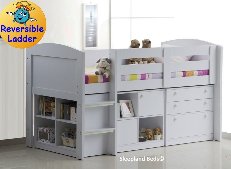 White Neptune Childrens Beds With Storage