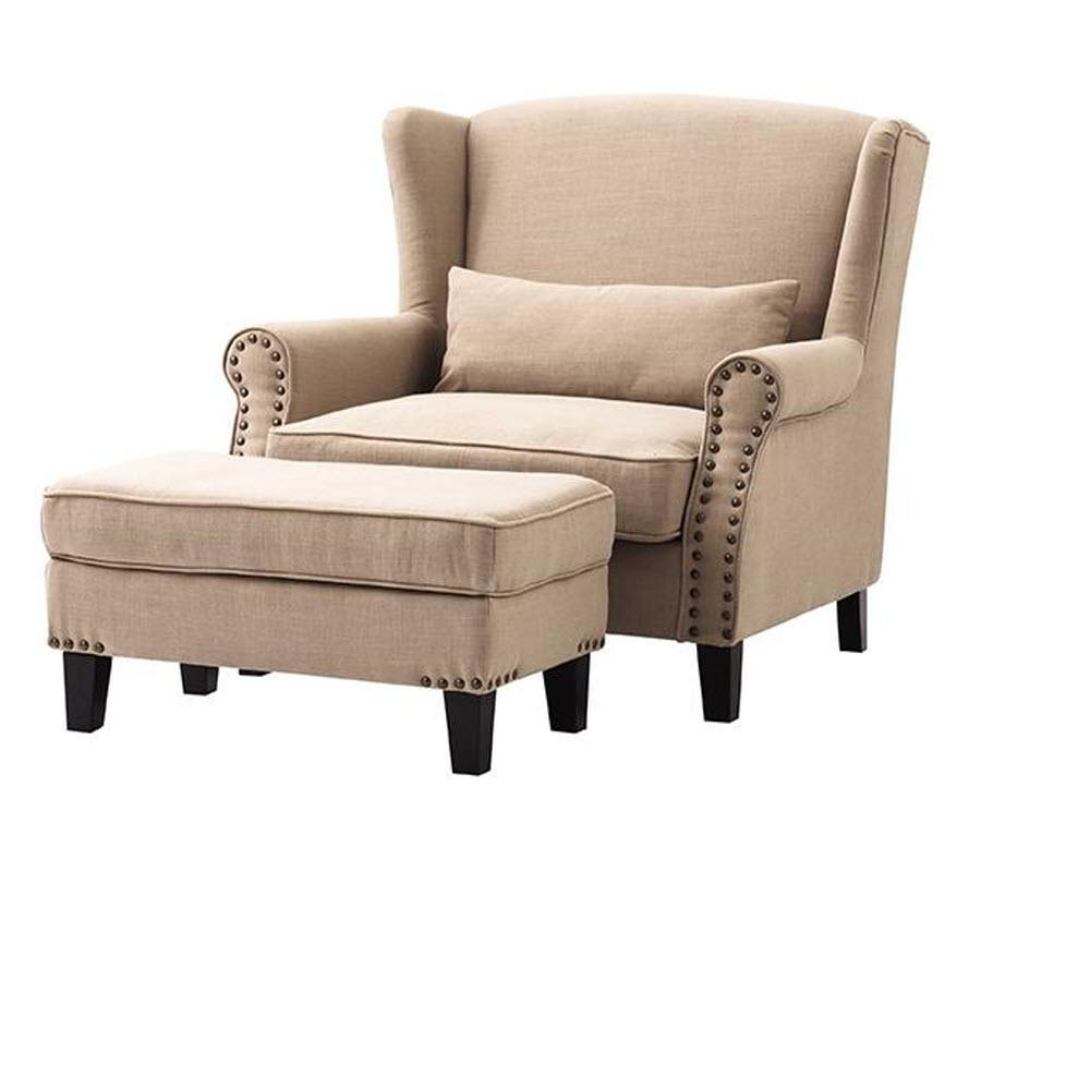 Details about Home Decorators Collection Arm Chair Ottoman Beige Linen  Living Room Furniture